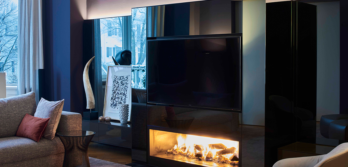 offener kamin kamin mit hohem heizwert foto br offener kamin offener kamin wand tadelakt blau. Black Bedroom Furniture Sets. Home Design Ideas